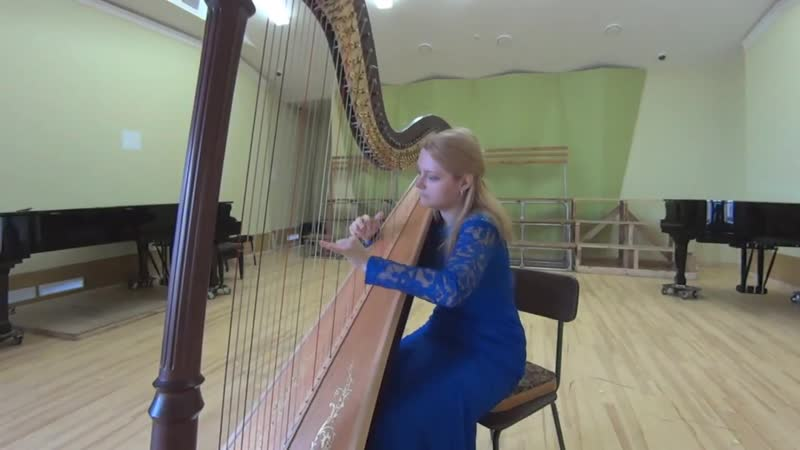 Franz Poenitz Nordische Ballade Russian harpist Anastasia Korenevskaja