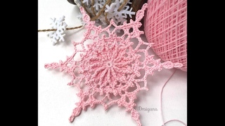 СНЕЖИНКА крючком. МК./SNOWFLAKE crochet.
