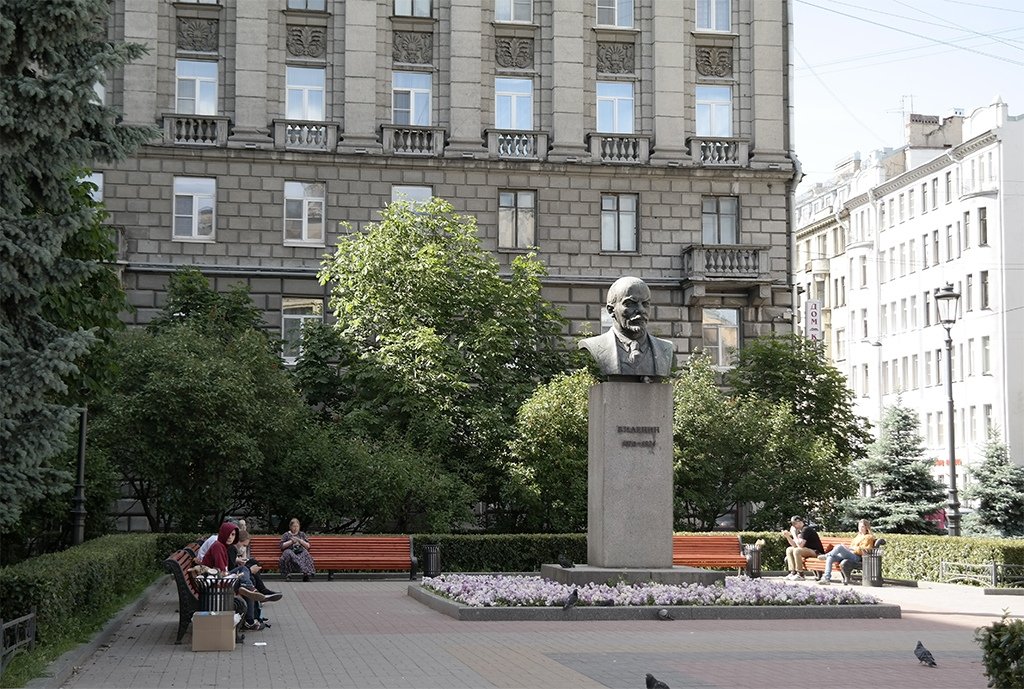 Бюст Ленина на Петроградке, Питер 2020