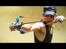 Homemade Creative Slingshot For Shooting Huge Fish -Powerful Slingshot VS Huge Fish