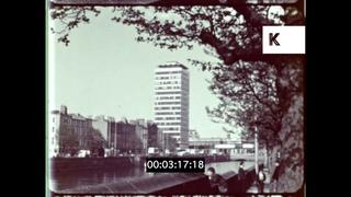 1960s Ireland Travelogue, Dublin, Street Scenes and Restaurants, 16mm