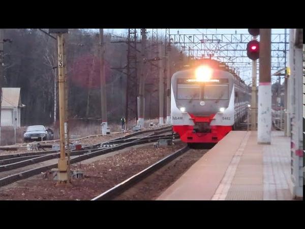 Электропоезд ЭД4М 0482 ЦППК Рэкс станция Бекасово 1 13 03 2020