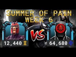 Лето Боли Неделя 6 — Магнето vs Адаптоид | Marvel Contest of Champions