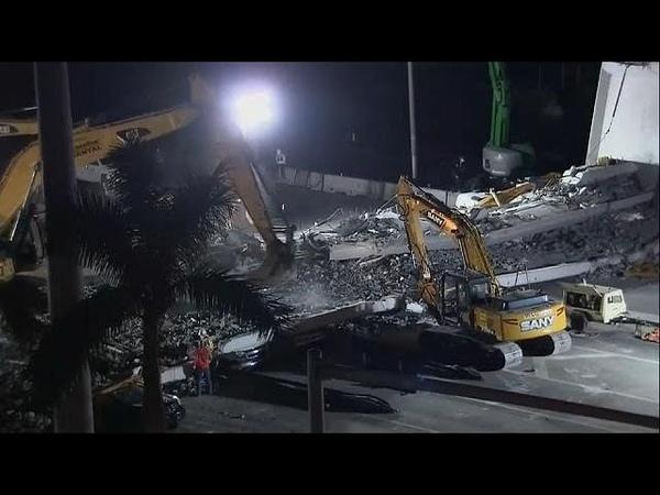 Трагедия в США число жертв обрушения моста возросло до 6 человек