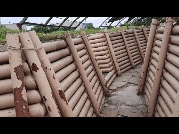 Фортификационные сооружения окопы дзоты пограничный столб подрустверный блиндаж полевая кухня