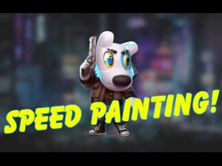 Speed Painting -  Spotty Cyberpunk