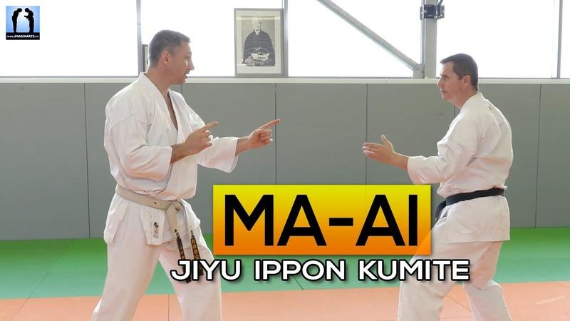 MA AI en Jiyu Ippon Kumite KARATE