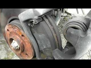 Замена тормозных колодок на Nissan Almera