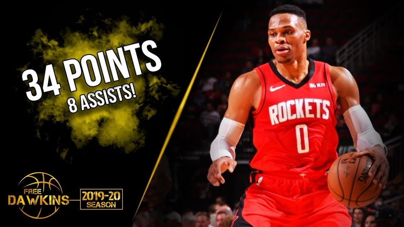 Russell Westbrook Full Highlights 2019.12.09 Rockets vs Kings - 34 Pts, 8 Asts!   FreeDawkins