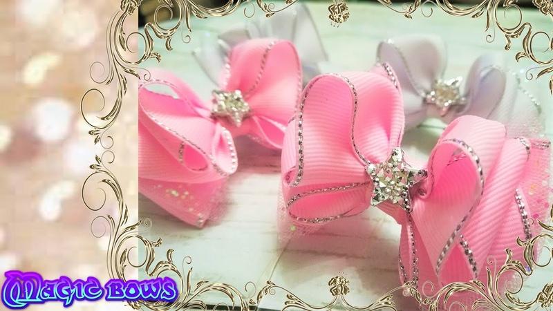 The best gift for your baby DIY bows Лучший подарок для вашей малышки Бантики своими руками