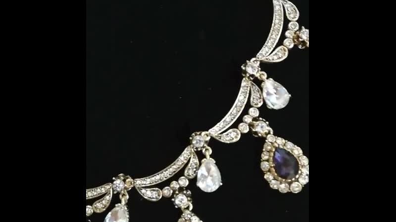 Из коллекции КЁСЕМ СУЛТАН одно из наших любимых ожерелий в сапфировом цвете