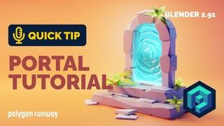 Portal Environment Tutorial in Blender 2.9 | Polygon Runway