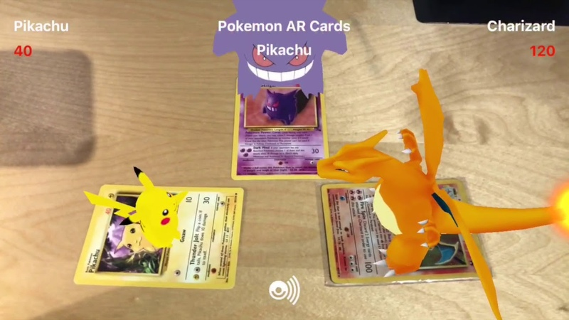 Pokemon Augmented Reality TCG with Voice Commands for iPhone