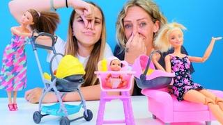 Spielspaß mit Ayça und Nicole - Wir spielen mit Barbie Puppen - 2 Spielzeug Videos für Kinder