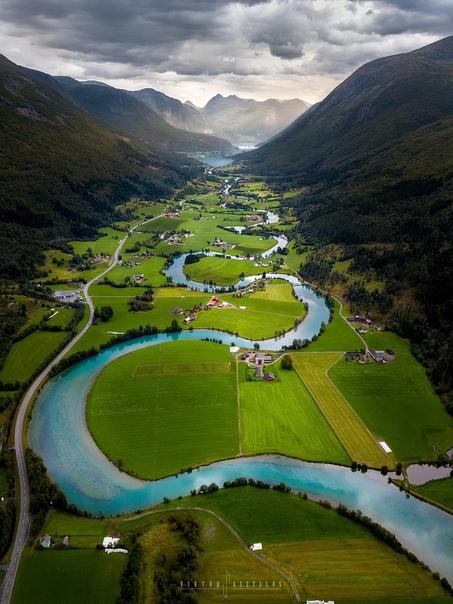 Долина Олдендален, Стрюн, Норвегия