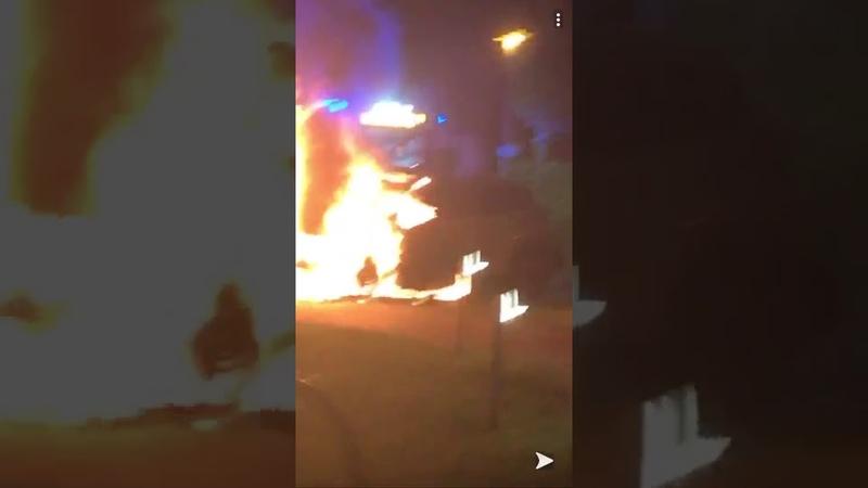 Niendorf Linksextreme legten eine Brandbombe unter den Motorblock von Sabine Düllmann AfD