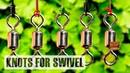 5 nudos de pesca para esmerillon o girador de pesca | Nudos fáciles y resistentes