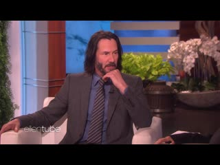 Keanu reeves kicked a person here while filming john wick  chapter 3 (may, 2019) theellenshow