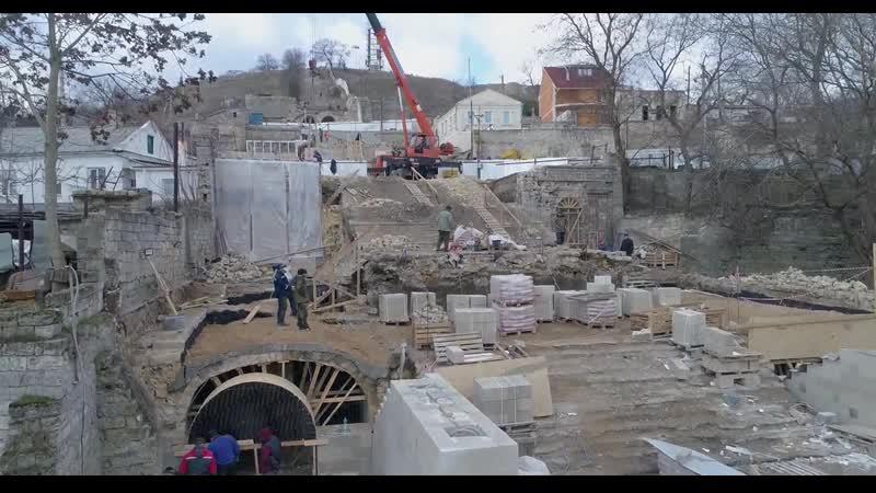 Таврида 4K Реконструкція Большой Митридатской лѣстницы крупнымъ планомъ