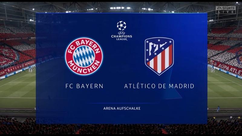 Бавария Атлетико Мадрид Лига Чемпионов 1 тур 21 10 20