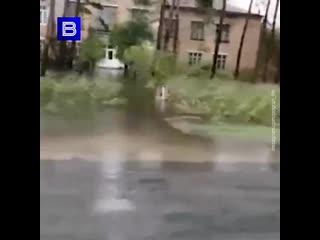 """""""Вода прет через дорогу"""": озеро Ханка подобралось к домам приморцев."""