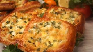 Ленивые пирожки  с яйцом и зеленым луком.  Калнина Наталья