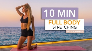 10 MIN FULL BODY STRETCHING - relax, end your workout, tight muscles I Pamela Reif