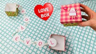 Love BOX Card Tutorial | DIY Valentine's Day Card Box | How to Make Paper Box | I love you Card