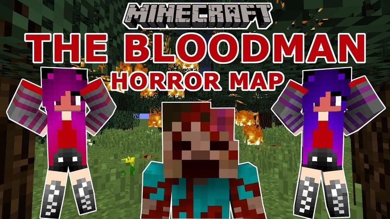 Minecraft: The Bloodman Part 1 / Horror Map / Janet and Kate