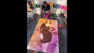 Sanaya Irani painting