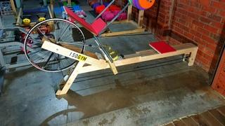 DIY rowing machine with Odometer/Speedometer!