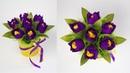 Мини Букет с тюльпанами из конфет. Поделки и подарки своими руками.