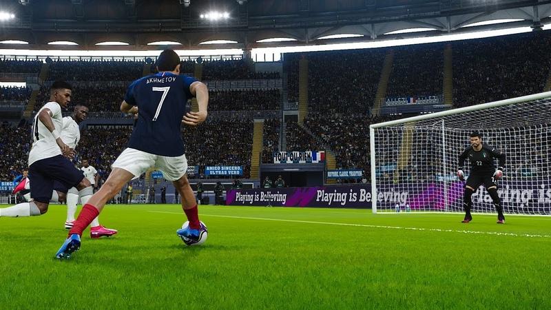 EFootball PES 2020 2021 Удар по восходящей шведкой с наклевом с подсечкой tutorial shoots