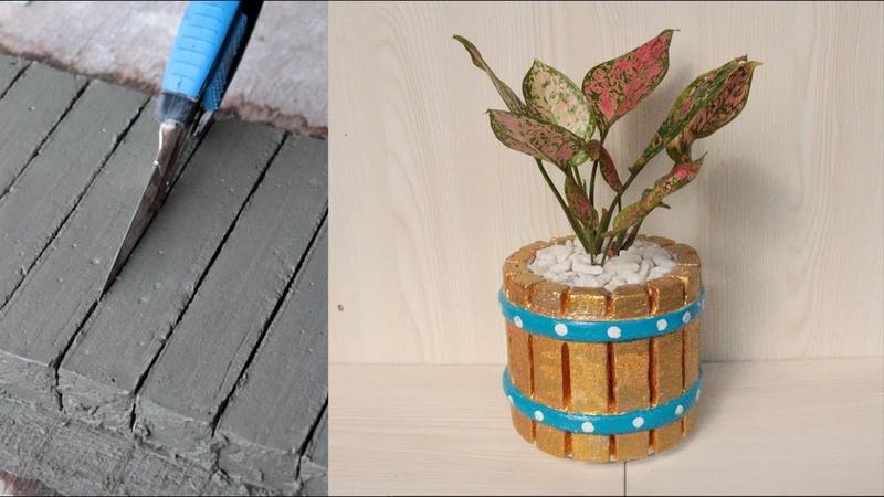 Сделай сам бетонный горшок красивой формы