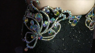 Black Butterfly Belly Dance Costume by Aida Style