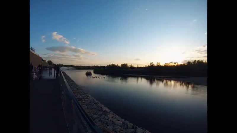 Ангарск закат на набережной