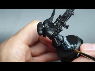 How to paint black Space Marine power armour. (Iron hands, Raven guard, Black templars)
