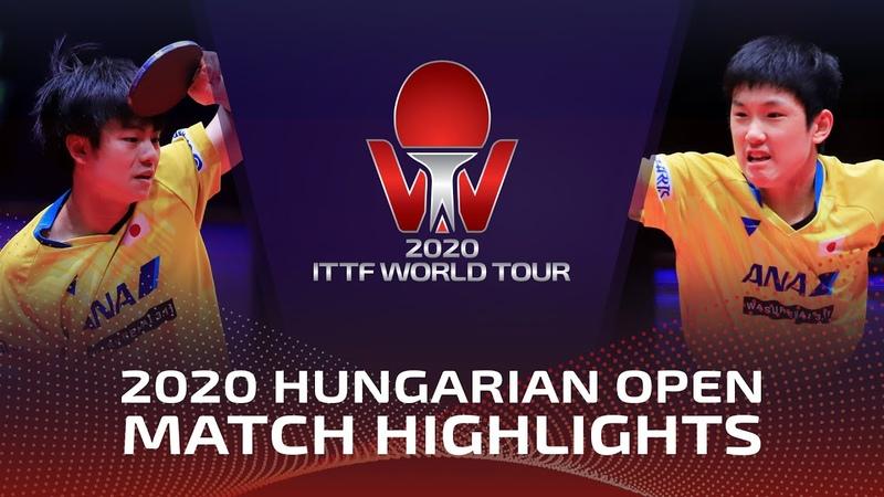 Tomokazu Harimoto vs Yukiya Uda 2020 ITTF Hungarian Open Highlights Final