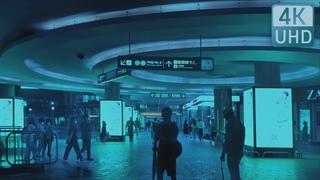 【4K UHD】 SEOUL WALK - Welcome to the Rainy Cyberpunk Seoul. Ambience. ASMR. Relax. Sleep. Cinematic