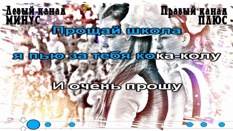 Настя Гайчук - Прощай школа, я пью за тебя кока-колу Караоке (Синхро.)