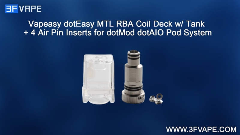 Vapeasy dotEasy MTL RBA Coil Deck with Tank 4 Air Pin Inserts for dotMod dotAIO Pod System