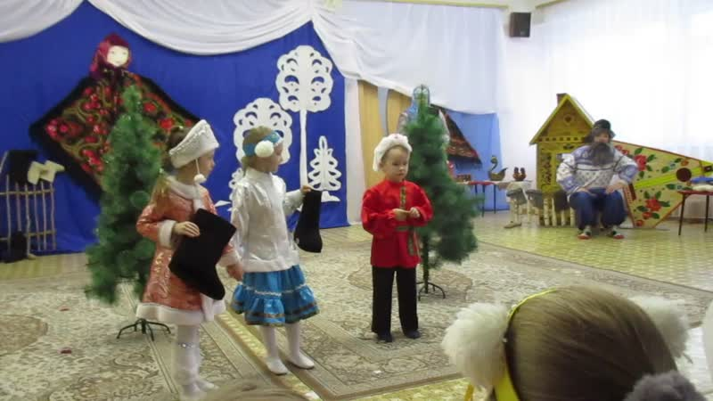 мастер класс в 378 детском саду Русское чудо сибирские валенки 0361