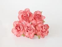 000024 Кудрявые розы 4 см коралловый 2  1 шт - 23 руб  диаметр 4 см высота 2 см длина стебля 7 см