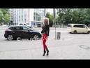 Red leggings from Slinkystylez and High heels from Giaro