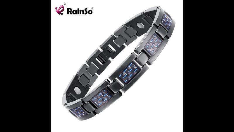 Rainso bio energy здоровье титановый браслет с красным покрытием магнитный и гигиена для мужчин