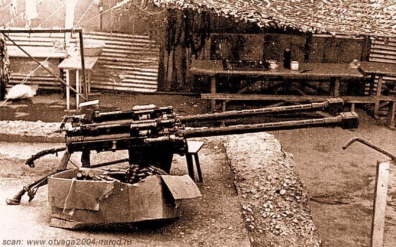 Спаренные 14,5-мм пулеметы КПВ перед установкой на ЗиЛ-131. Чечня июнь 2000 года