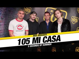 5SOS acoustic performance and interview at Radio 105 Mi Casa in Italy