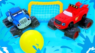 Corrida na piscina! História infantil com carros de corrida Blaze and the Monster Machines