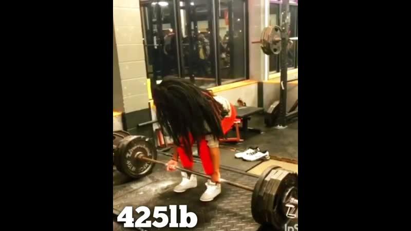 Lu Faustin WBFF Pro тяга 193 кг