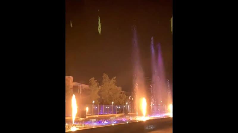 Светомузыкальный фонтан с огненным шоу на Имеретинской набережной